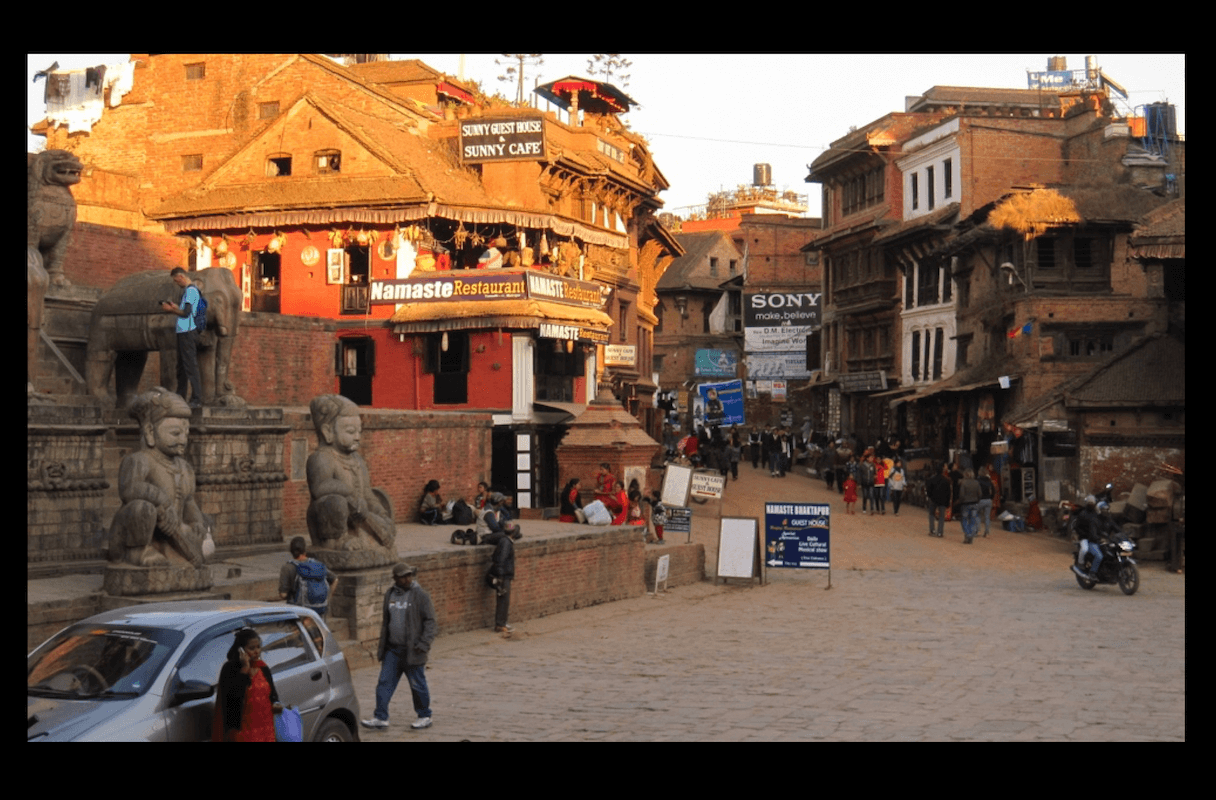 Nepal Bhaktapur Main Square Elephants AFTER 2012