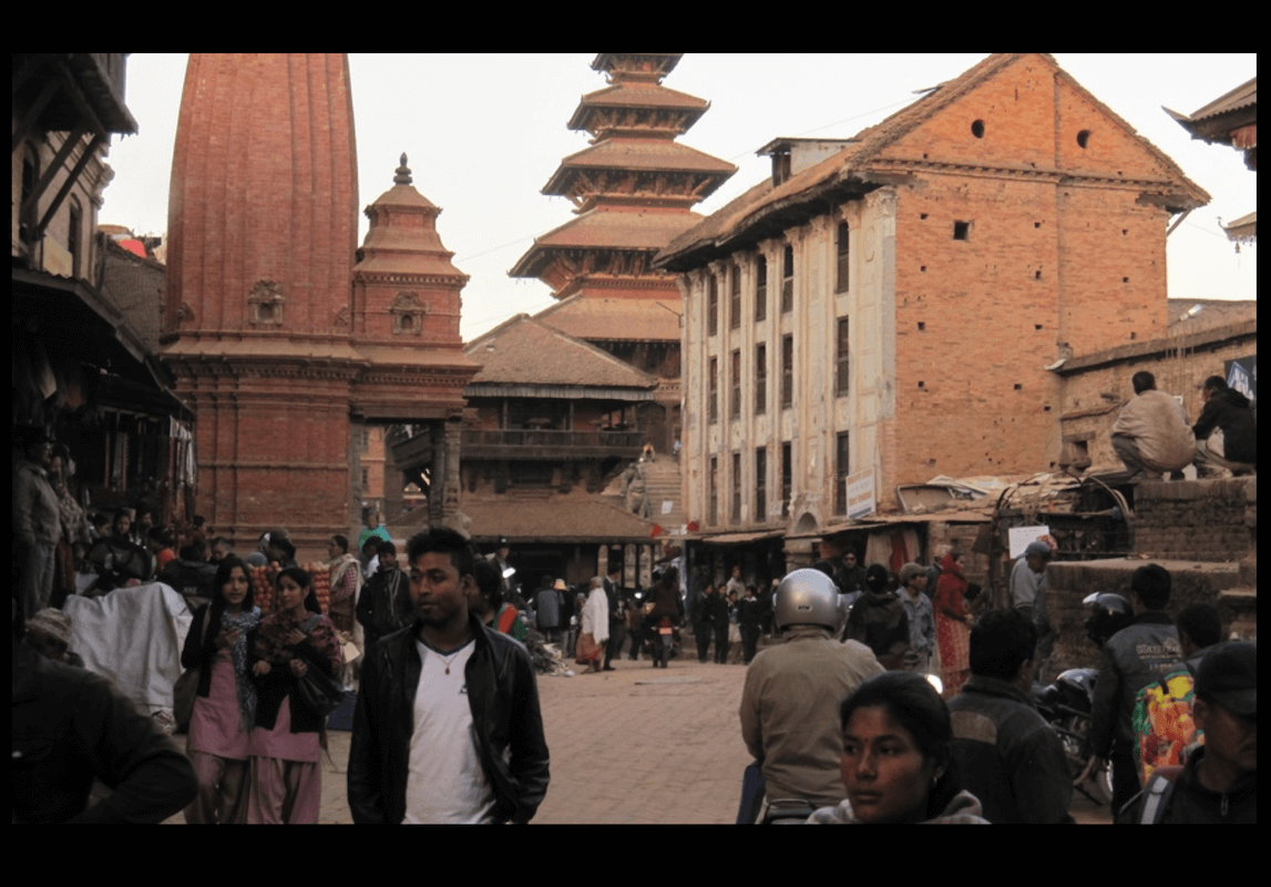 Nepal Bhaktapur Main Square Wide AFTER 2012