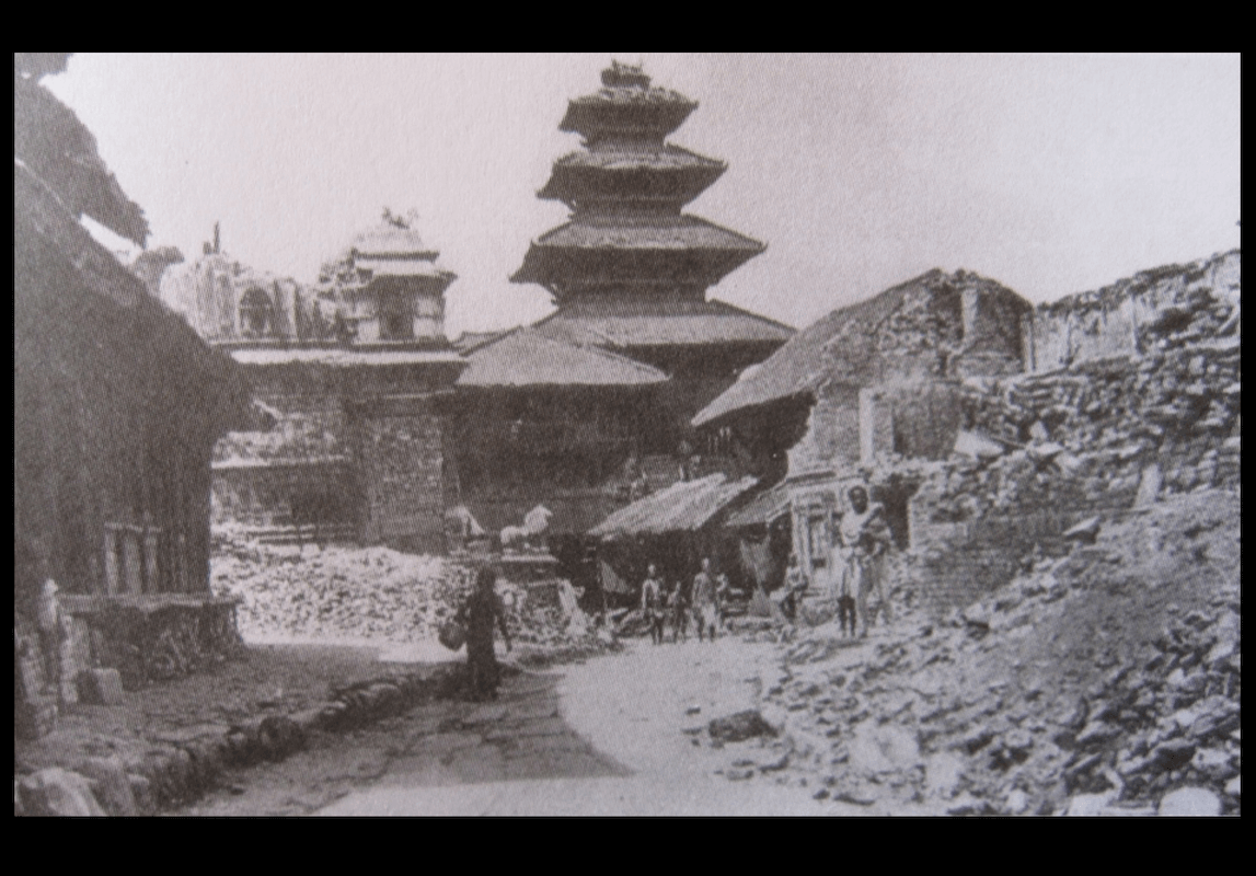 Nepal Bhaktapur Main Square Wide BEFORE 1912